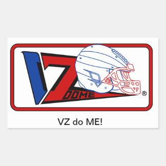 VZDOME, football Gear Rectangular Sticker