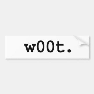 w00t. bumper sticker