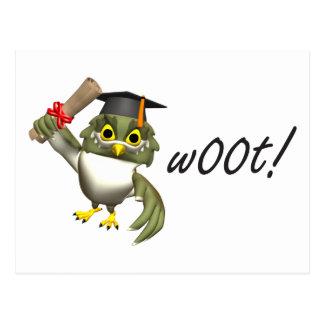 ¡w00t!  Camisetas y regalos de la graduación Tarjetas Postales
