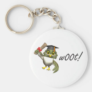 w00t!  Graduation Tees & Gifts Basic Round Button Keychain