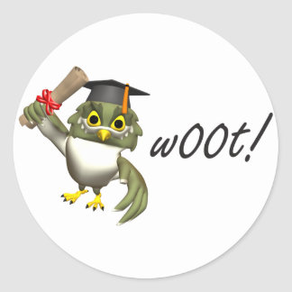 w00t!  Graduation Tees & Gifts Classic Round Sticker