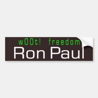 ¡w00t! libertad etiqueta de parachoque