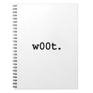 w00t. spiral notebook