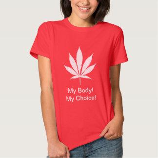 ¡W04 mi cuerpo! ¡Mi opción! Camiseta del pote Playera