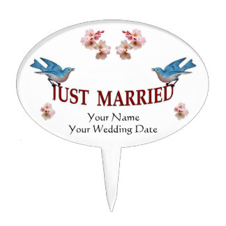 W04  Wedding Favor Cake Pick