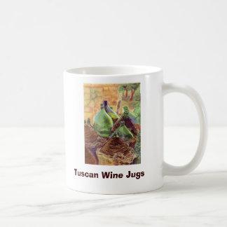 W063 copia, jarros toscanos del vino, creaciones d taza