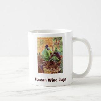 W063 copia, jarros toscanos del vino, creaciones d tazas