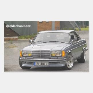 W123 C123 Coupe Mercedes Benz Rectangular Sticker