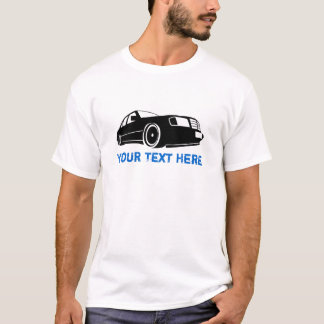 W124 black + your text T-Shirt