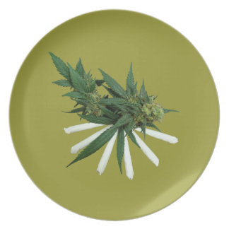 W29 Buds and Joints Dinner Plate