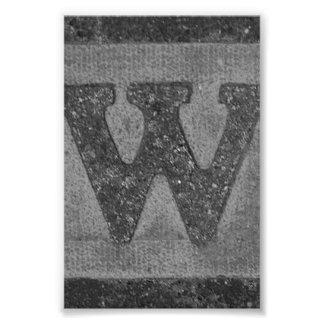 W3 4x6 blanco y negro de la fotografía de la letra fotos