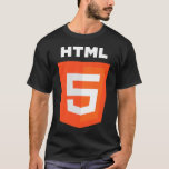 W3 W3C del funcionario del logotipo del HTML 5 Playera