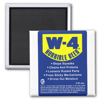 W4 Horrible Beer 2 Inch Square Magnet
