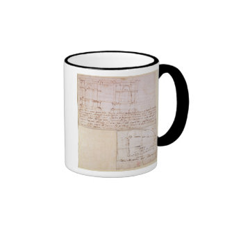 W.23r Architectural sketch with notes Ringer Coffee Mug