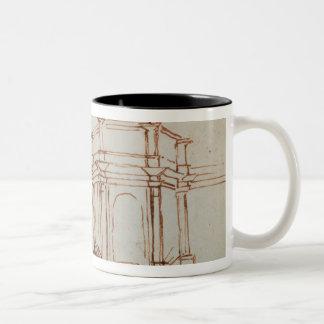 W.24r Architectural sketch Two-Tone Coffee Mug