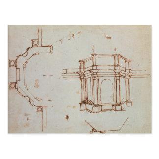 W.24r Architectural sketch Postcard