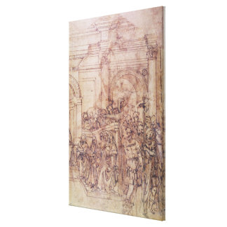 W.29 Sketch of a crowd for a classical scene Stretched Canvas Prints