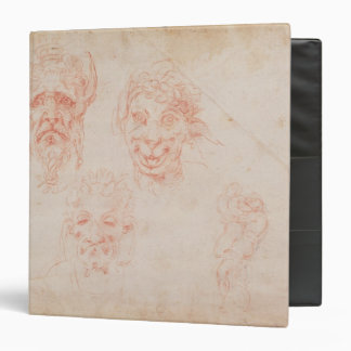 W.33 Sketches of satyrs' faces Binder