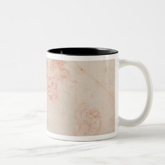 W.33 Sketches of satyrs' faces Two-Tone Coffee Mug