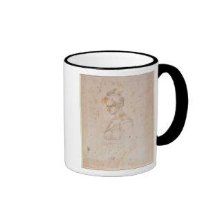 W.41 Sketch of a woman Ringer Coffee Mug