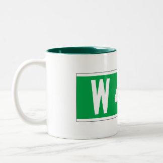 W 42 St., New York Street Sign Two-Tone Coffee Mug