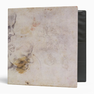W.60 Sketch of a male head, in two positions 3 Ring Binder