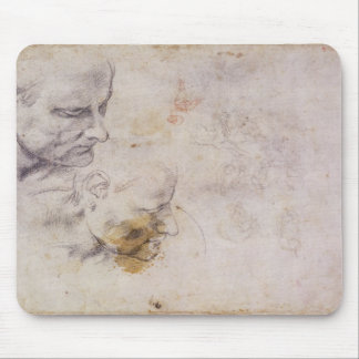 W.60 Sketch of a male head, in two positions Mouse Pad
