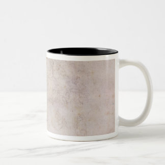 W.60 Sketch of a male head, in two positions Two-Tone Coffee Mug