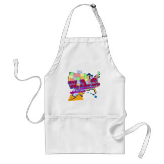 W.A.S. HAM RADIO WORKED ALL STATES ADULT APRON