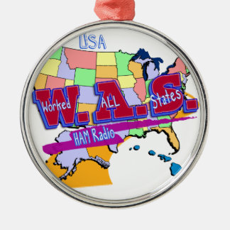 W.A.S. HAM RADIO WORKED ALL STATES ORNAMENT