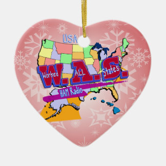 W.A.S. HAM RADIO WORKED ALL STATES CHRISTMAS TREE ORNAMENTS