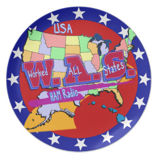 W.A.S. HAM RADIO WORKED ALL STATES PARTY PLATES