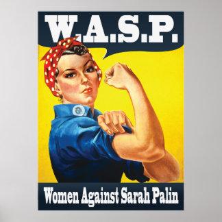 W.A.S.P. - Women Against Sarah Palin Poster