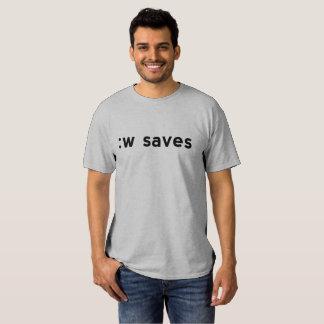 : w ahorra - el texto negro para los usuarios de playeras