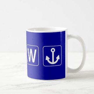 W Anchor Wanchor Funny Gift Coffee Mugs