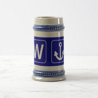 W Anchor Wanchor Funny Gift Mugs