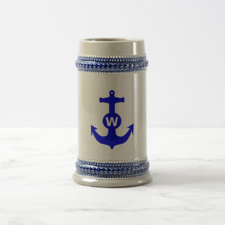 W Anchor Wanchor Insult Funny Gift Beer Stein
