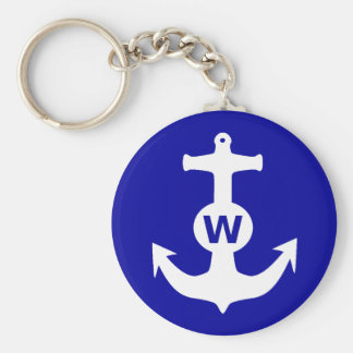 W Anchor Wanchor Insult Funny Gift Keychain