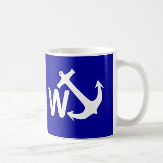 W Anchor Wanchor Joke Funny Gift Coffee Mug