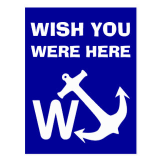 W Anchor Wanchor Joke Funny Gift Postcards