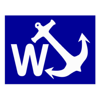 W Anchor Wanchor Joke Funny Gift Post Cards