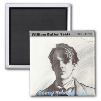 W. B. Yeats 2 Inch Square Magnet