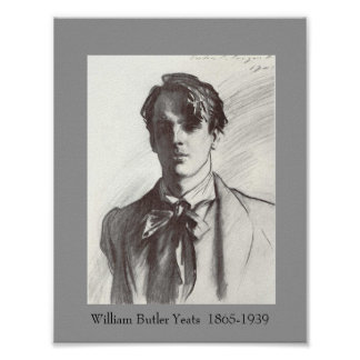 W B Yeats Poster