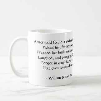 W.B. Yeats's Poem on a Mermaid Coffee Mug