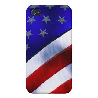 w/ BANDERA AMERICANA iPhone 4/4S Carcasa