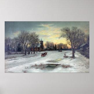 W.C. BAUER-CHRISTMAS EVE-PRINT