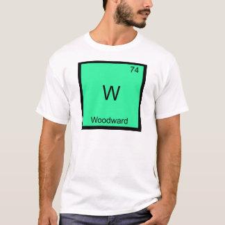 W - Camiseta divertida del símbolo del elemento de
