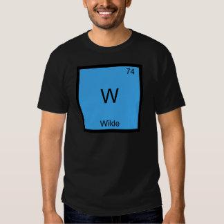 W - Camiseta divertida del símbolo del elemento de Polera