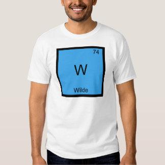 W - Camiseta divertida del símbolo del elemento de Remeras