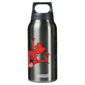 w/China Monster chasing Toby Insulated Water Bottle